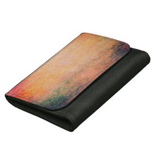 抽象的な革財布の美しくグランジなヴィンテージの芸術 ウォレット