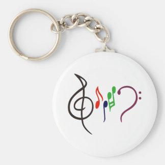 抽象的な音楽ロゴ キーホルダー