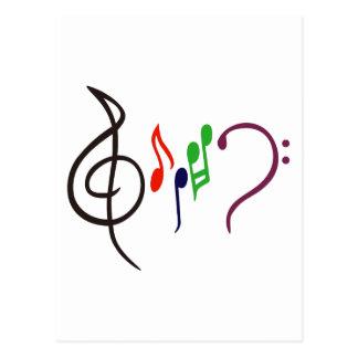 抽象的な音楽ロゴ ポストカード