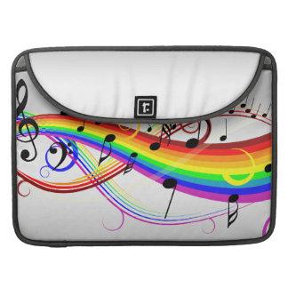抽象的な音符および虹色 MacBook PROスリーブ