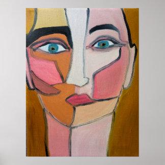抽象的な顔 ポスター