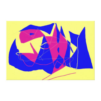 抽象的な魚 キャンバスプリント