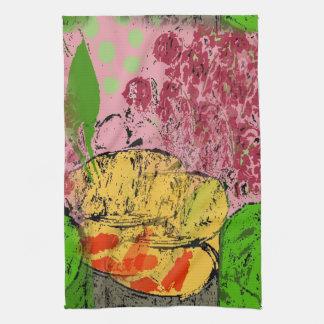 抽象的な魚、Matisseへの尊敬 キッチンタオル