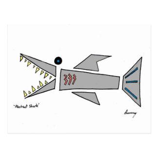 抽象的な鮫の郵便はがき ポストカード
