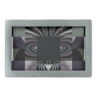 抽象的な黒 長方形ベルトバックル