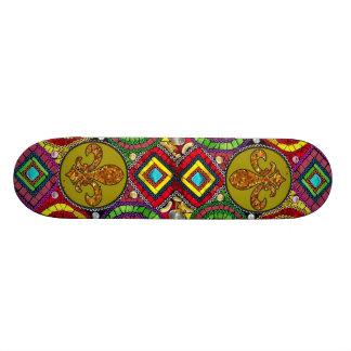 抽象的な(紋章の)フラ・ダ・リのスケートボードニュー・オーリンズ 19.7CM スケートボードデッキ