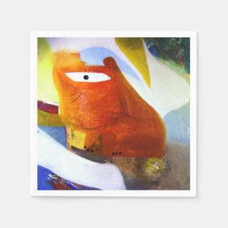 抽象的な「1つは」猫2009年を注目しました スタンダードカクテルナプキン