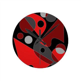 抽象的な#311 ラウンド壁時計
