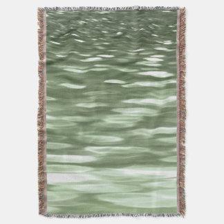 抽象的な#3: オリーブ色の汚点 スローブランケット