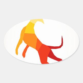 抽象的なdog.jpg 楕円形シール