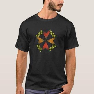 抽象的なflower-3-_- (黒い) .png tシャツ