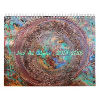 抽象的なJessieの芸術2015のカレンダー カレンダー
