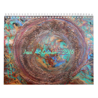 抽象的なJessieの芸術2016のカレンダー カレンダー