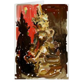 抽象的なSaraswati カード