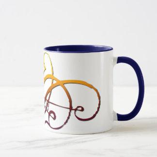 抽象的なSpidermesh マグカップ