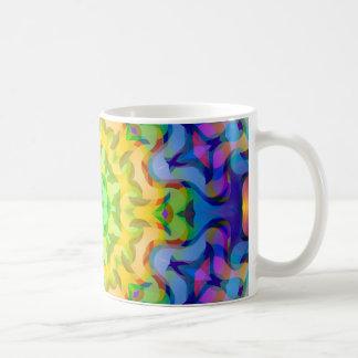 抽象的なSquiggle コーヒーマグカップ