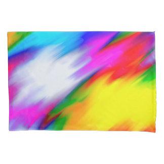 抽象的概念の数々のな色の明るい質 枕カバー