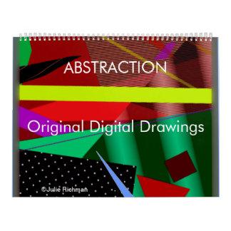 抽象的概念の芸術のカレンダー カレンダー