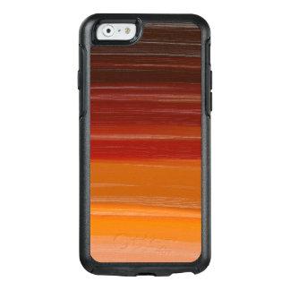 抽象的概念の芸術のブラウンの波状ライン オッターボックスiPhone 6/6Sケース