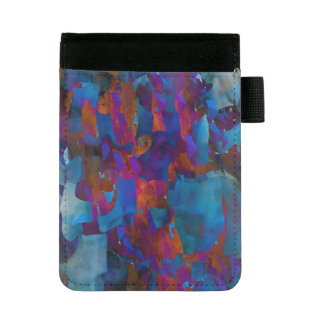 抽象的概念の芸術の青いCystalの格子効果 ミニパッドフォリオ