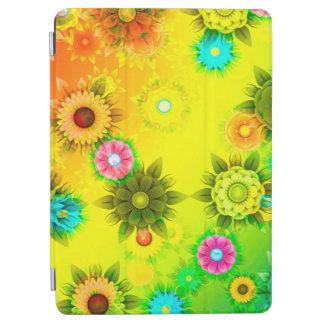 抽象的概念の芸術は緑、黄色のおよび白を輪郭を描きます iPad AIR カバー