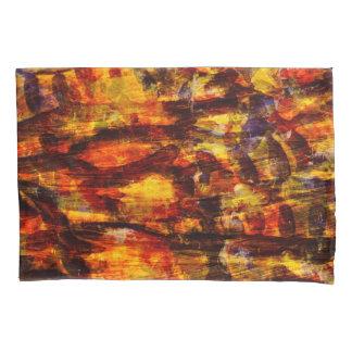 抽象的概念の芸術ブラウンおよび黒い羽 枕カバー