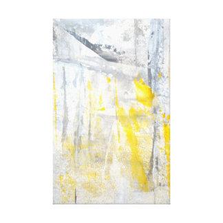 「抽象的概念」の灰色および黄色のバックラムのプリント キャンバスプリント