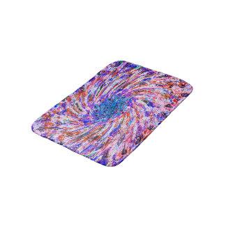 抽象美術のカラフルな紫色の回転の背景 バスマット