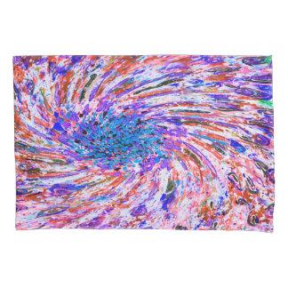 抽象美術のカラフルな紫色の回転の背景 枕カバー