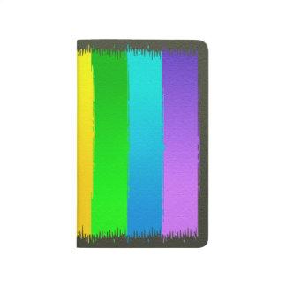 抽象美術のカラフルな虹の背景 ポケットジャーナル