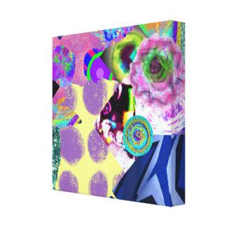 抽象美術のコラージュ キャンバスプリント