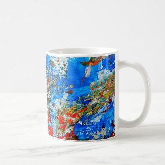 抽象美術のコーヒー・マグ、カラフルおよびトレンディー コーヒーマグカップ