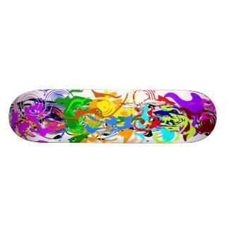抽象美術のスケートボード 18.7CM ミニスケートボードデッキ