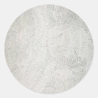 抽象美術のステッカー ラウンドシール