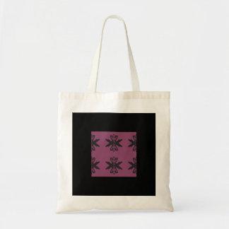 抽象美術のトートの紫色のデザイン トートバッグ