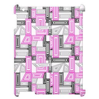 抽象美術のピンクの水彩画のIpadの幾何学的な例 iPad Case