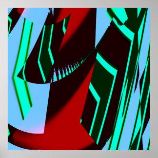 抽象美術のプリント ポスター