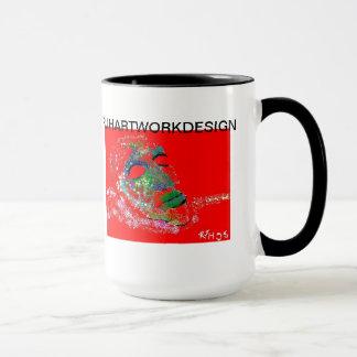 抽象美術のマグ マグカップ
