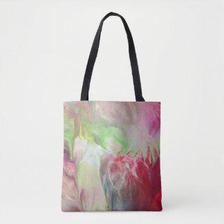 抽象美術の元の流れの絵画のヴィンテージは上がりました トートバッグ