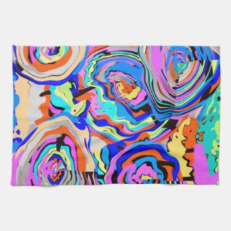 """抽象美術の台所タオル-創作者""""RjF"""" .xx.による… キッチンタオル"""