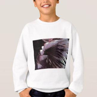 抽象美術の太陽のな羽の黒のすみれ色の珍しい スウェットシャツ