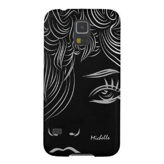 抽象美術の女性の顔のSamsungの銀河系S5の箱 Galaxy S5 ケース