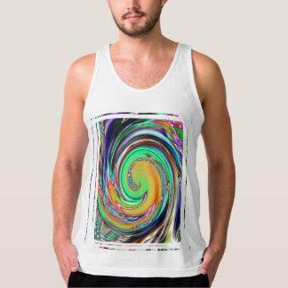 抽象美術の明るいネオン渦の渦 タンクトップ