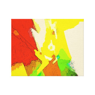 抽象美術の構成-前向きな振動 キャンバスプリント