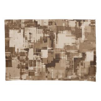 抽象美術の灰色パターン 枕カバー
