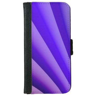 抽象美術の紫色の波 iPhone 6/6S ウォレットケース
