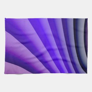 抽象美術の紫色Wav キッチンタオル