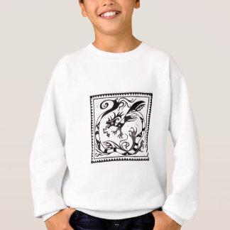 抽象美術の絵画スケッチ スウェットシャツ