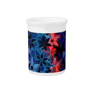 抽象美術の花模様#2 ピッチャー