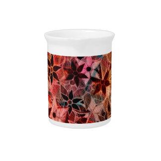 抽象美術の花模様#3 ピッチャー